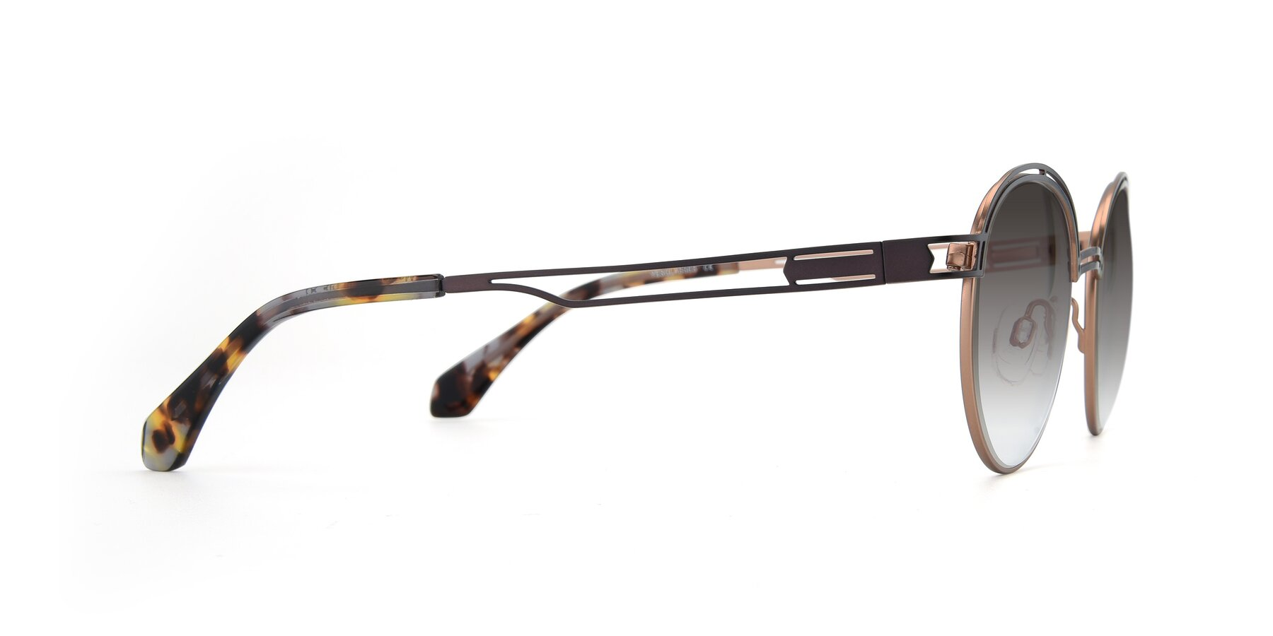 Side of Marvel in Coffee-Gold with Gray Gradient Lenses