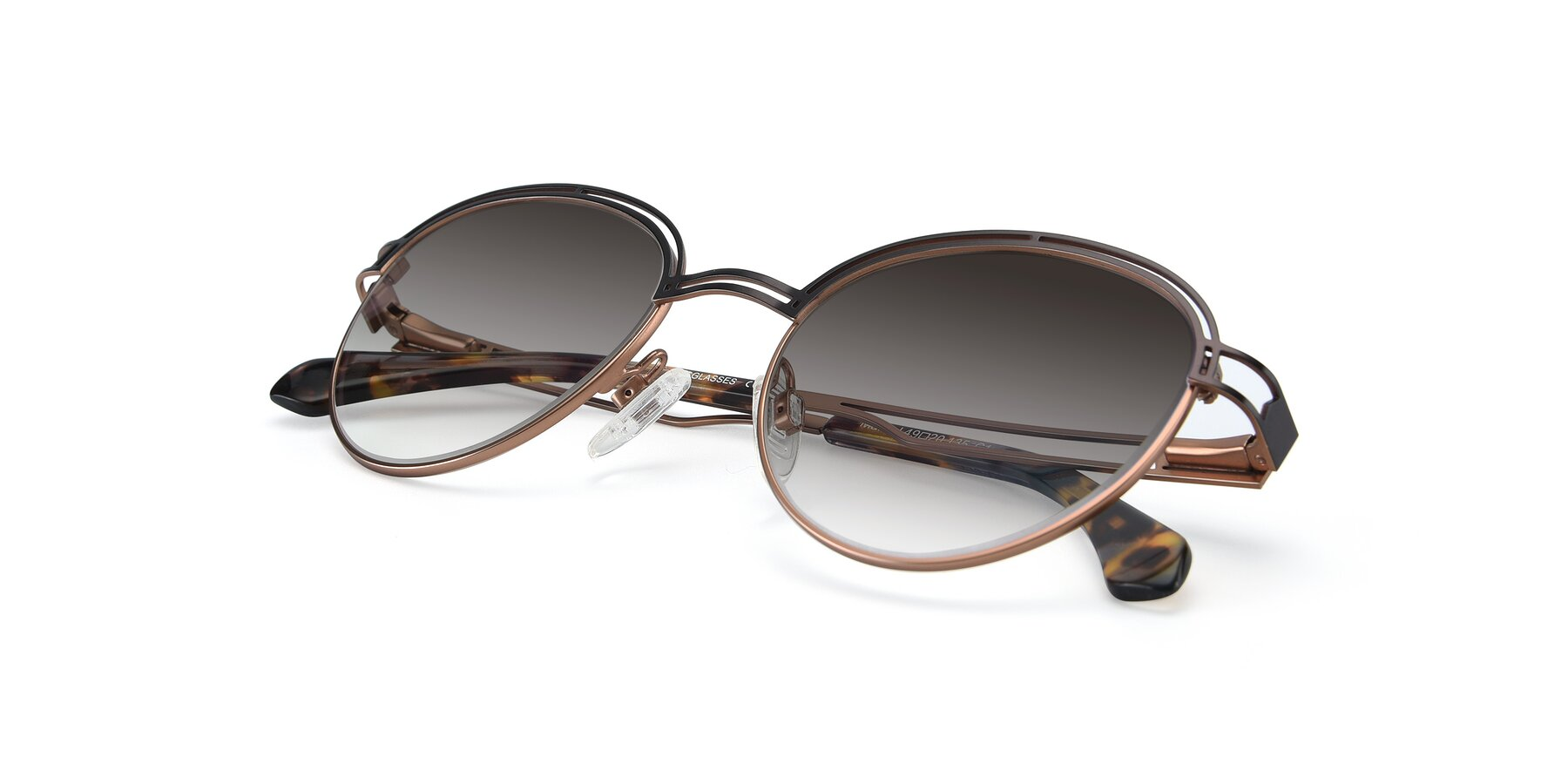 View of Marvel in Coffee-Gold with Gray Gradient Lenses