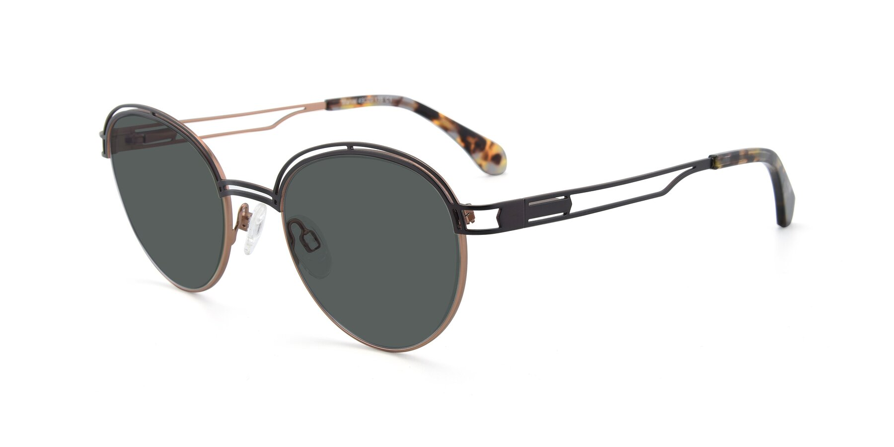 Angle of Marvel in Coffee-Gold with Gray Polarized Lenses