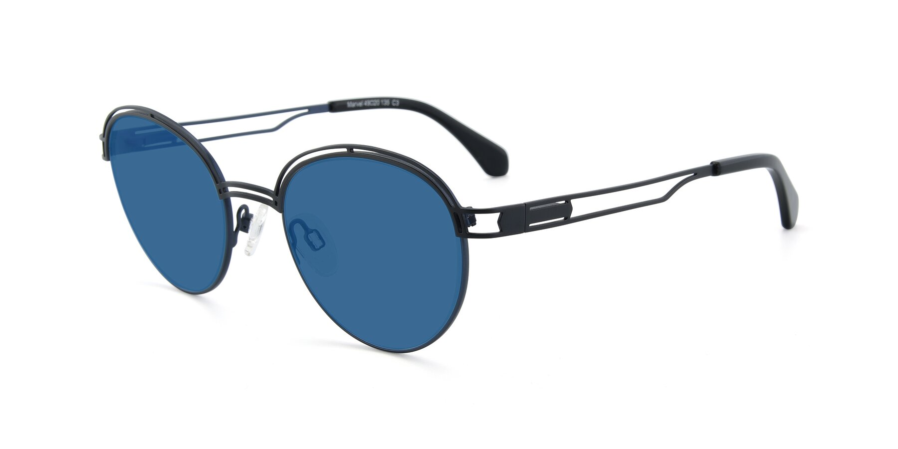 Angle of Marvel in Black-Blue with Blue Tinted Lenses