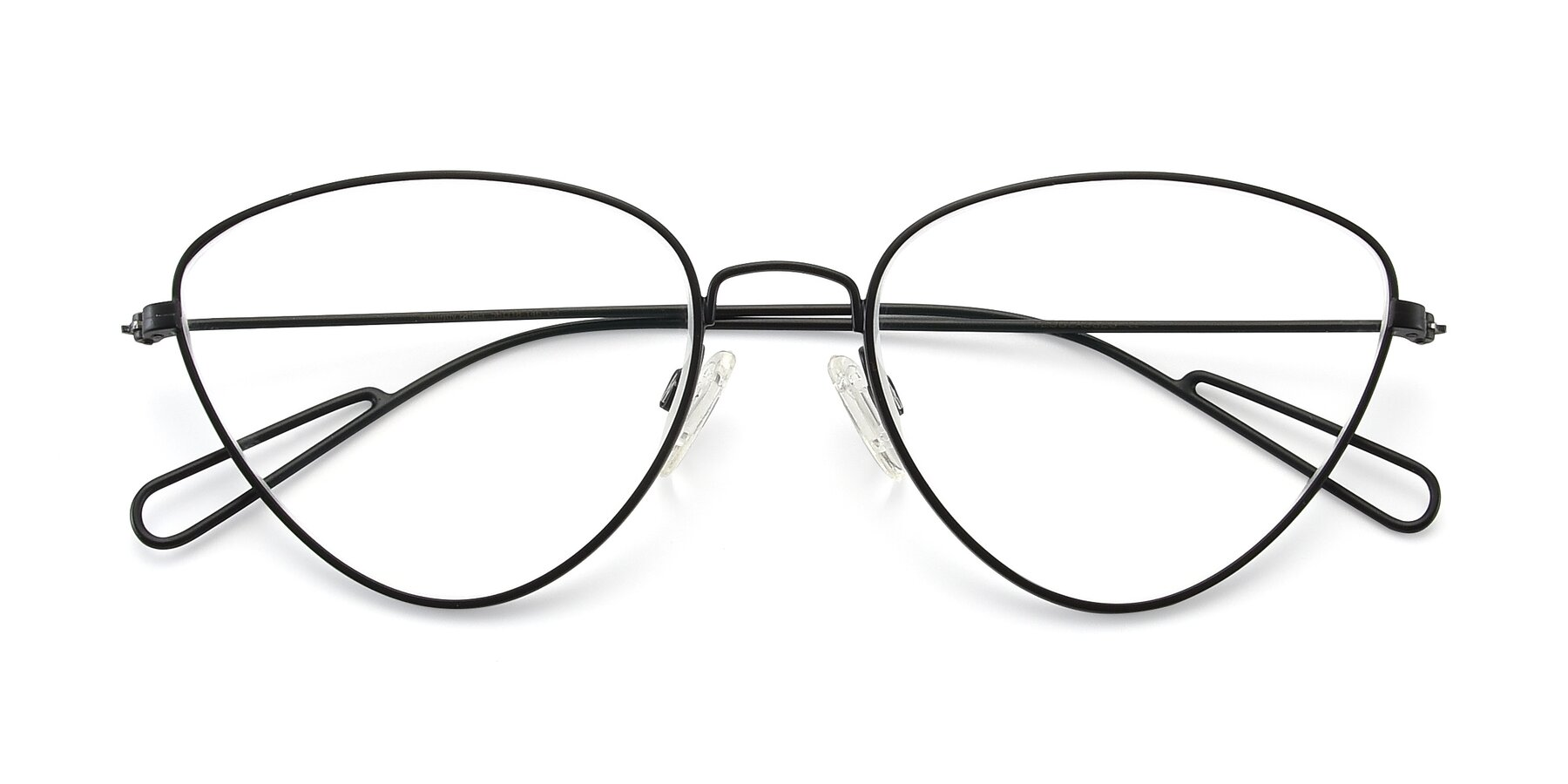Folded Front of Butterfly Effect in Black with Clear Eyeglass Lenses