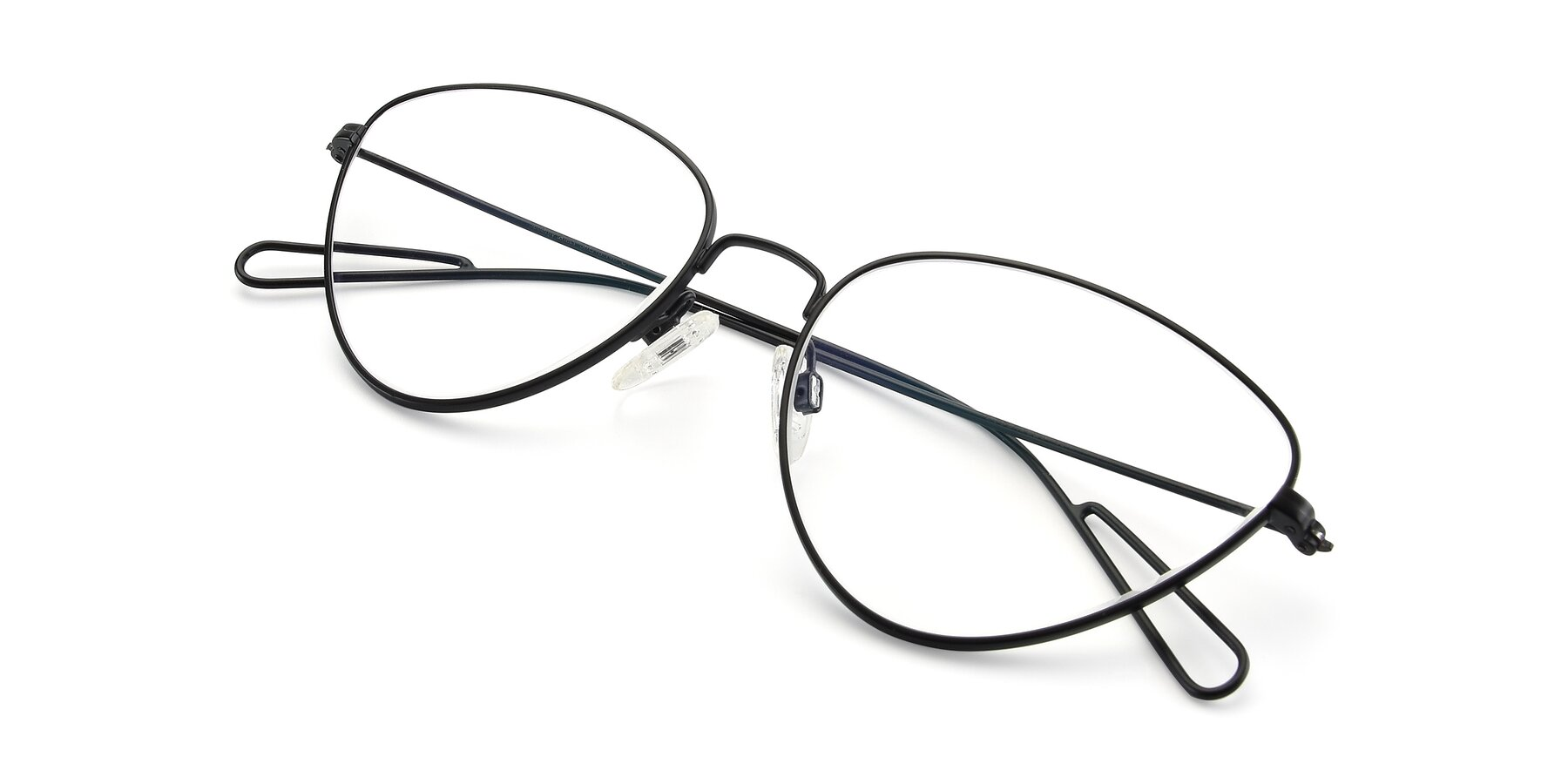 View of Butterfly Effect in Black with Clear Eyeglass Lenses