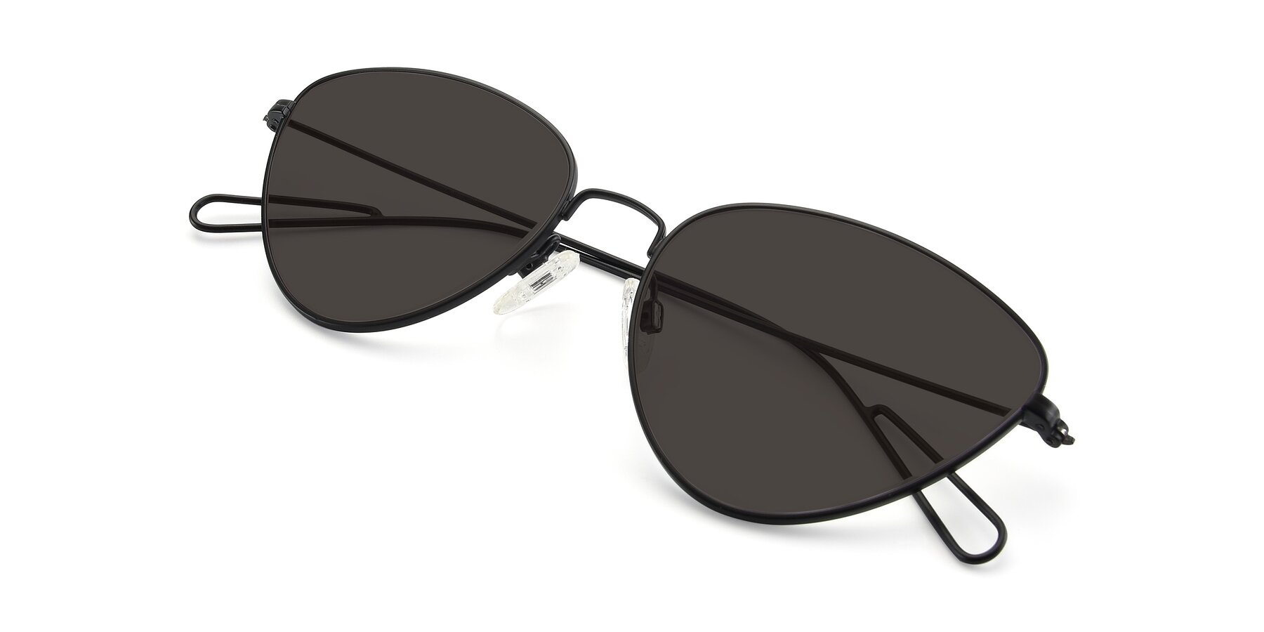 View of Butterfly Effect in Black with Gray Tinted Lenses