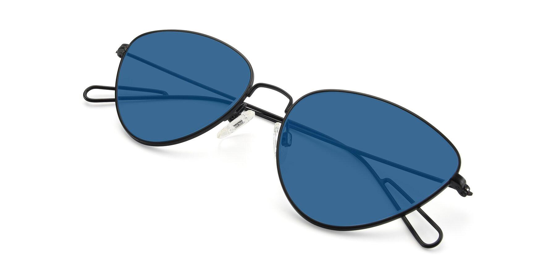 View of Butterfly Effect in Black with Blue Tinted Lenses