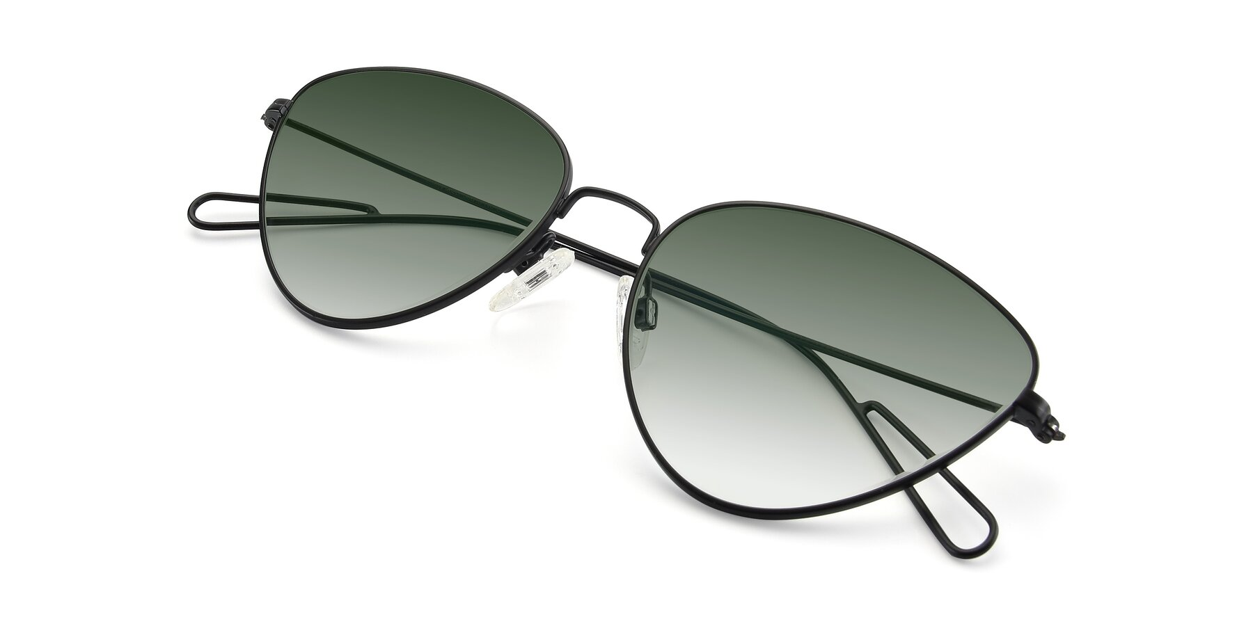 View of Butterfly Effect in Black with Green Gradient Lenses