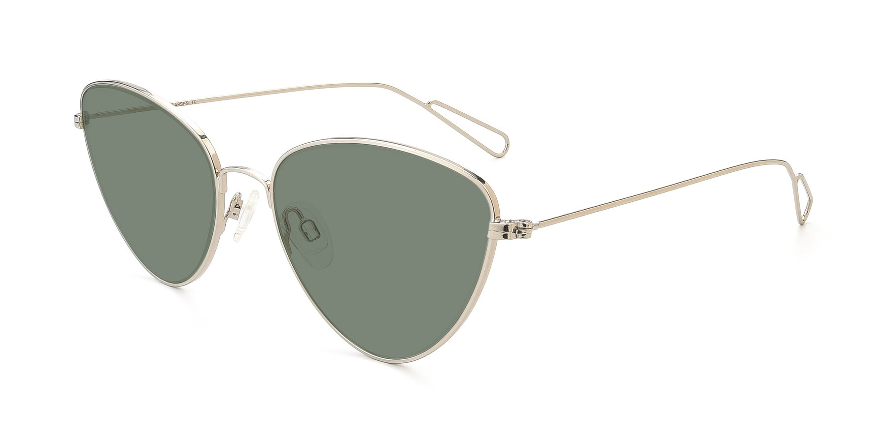 Angle of Butterfly Effect in Silver with Medium Green Tinted Lenses