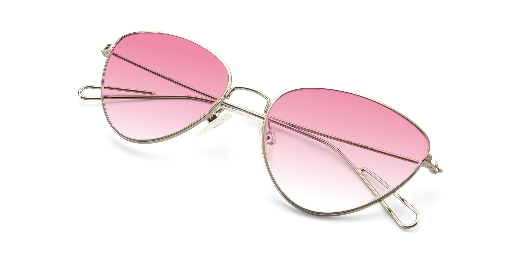 View of Butterfly Effect in Silver with Pink Gradient Lenses
