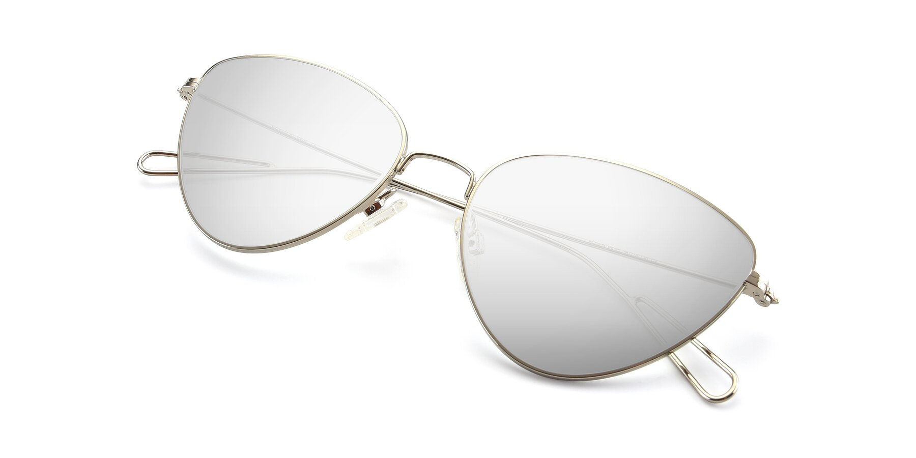 View of Butterfly Effect in Silver with Silver Mirrored Lenses