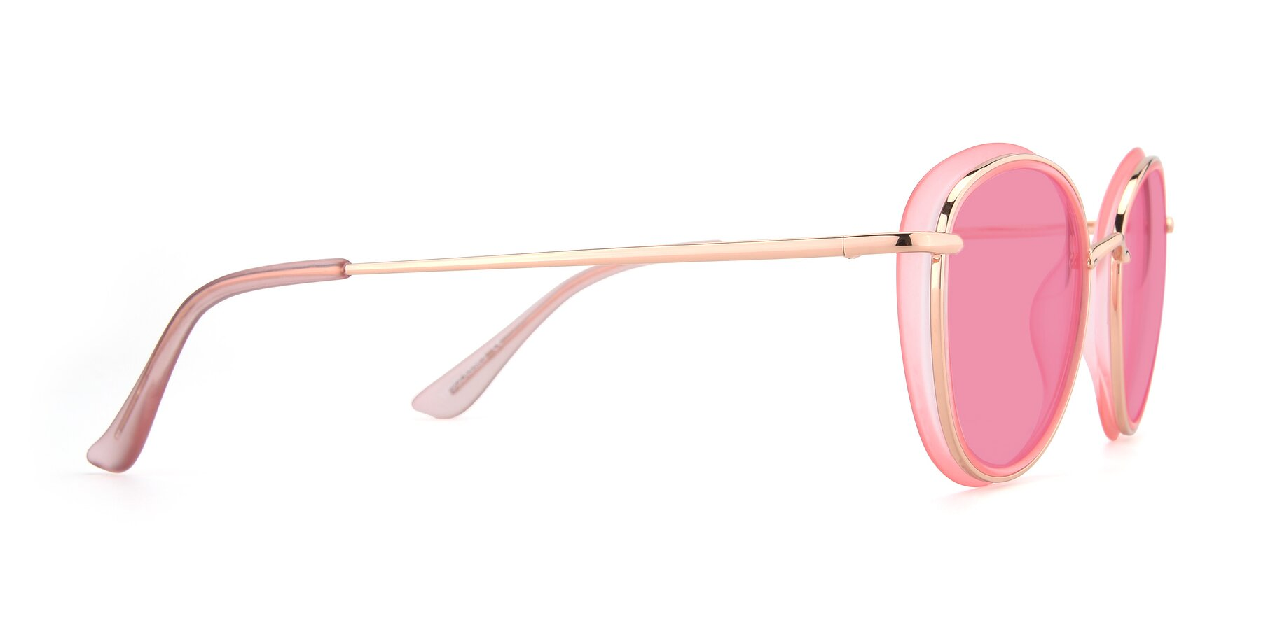 Side of Cosmopolitan in Pink-Gold with Pink Tinted Lenses