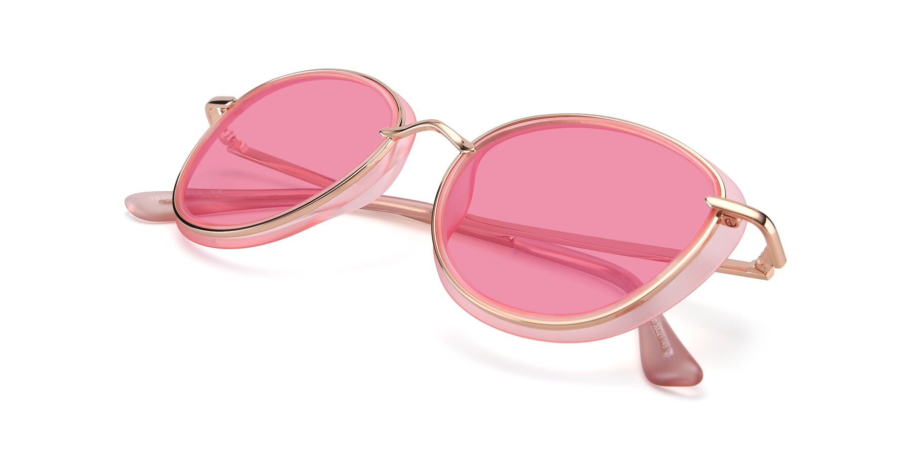 View of Cosmopolitan in Pink-Gold with Pink Tinted Lenses