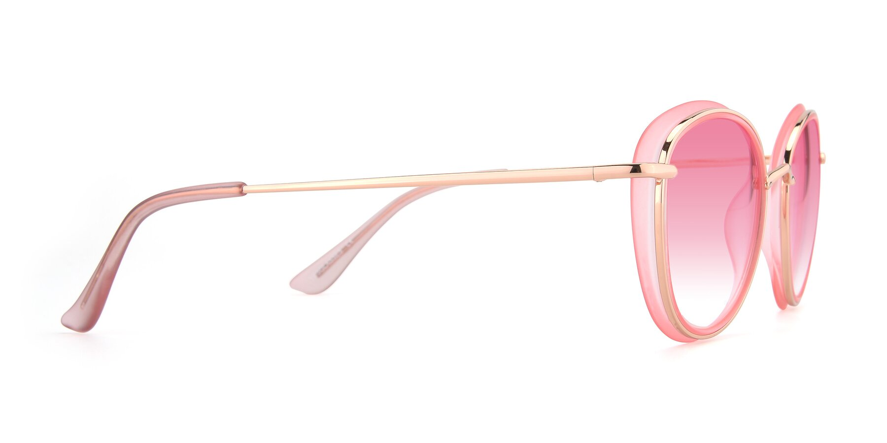 Side of Cosmopolitan in Pink-Gold with Pink Gradient Lenses