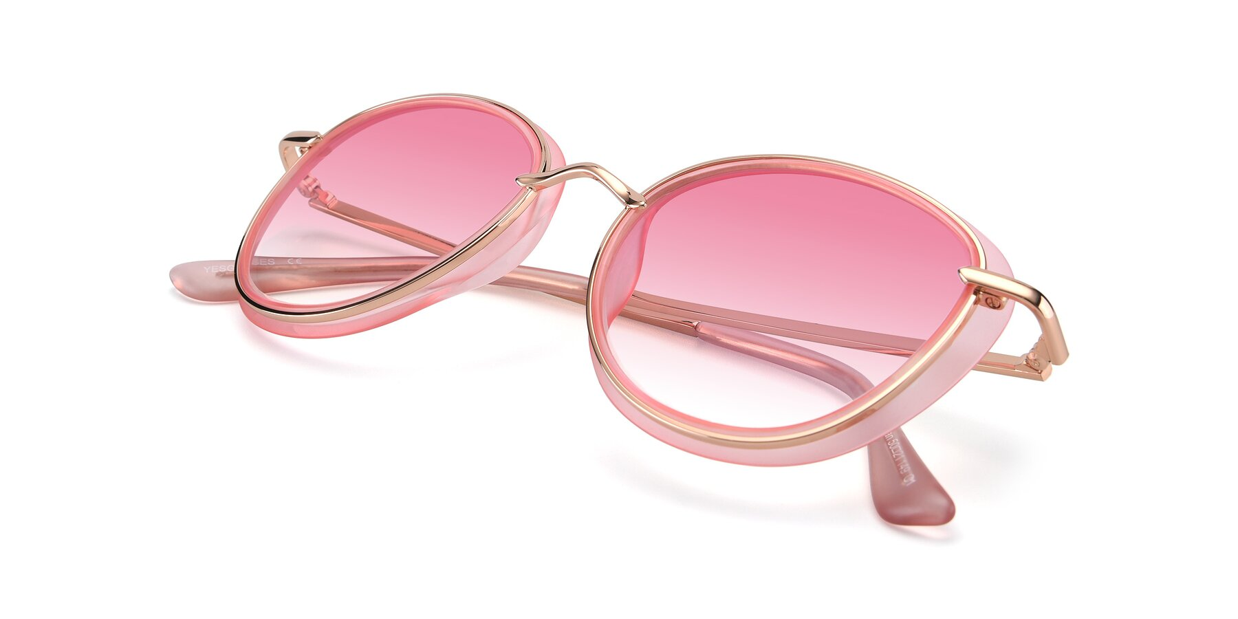 View of Cosmopolitan in Pink-Gold with Pink Gradient Lenses