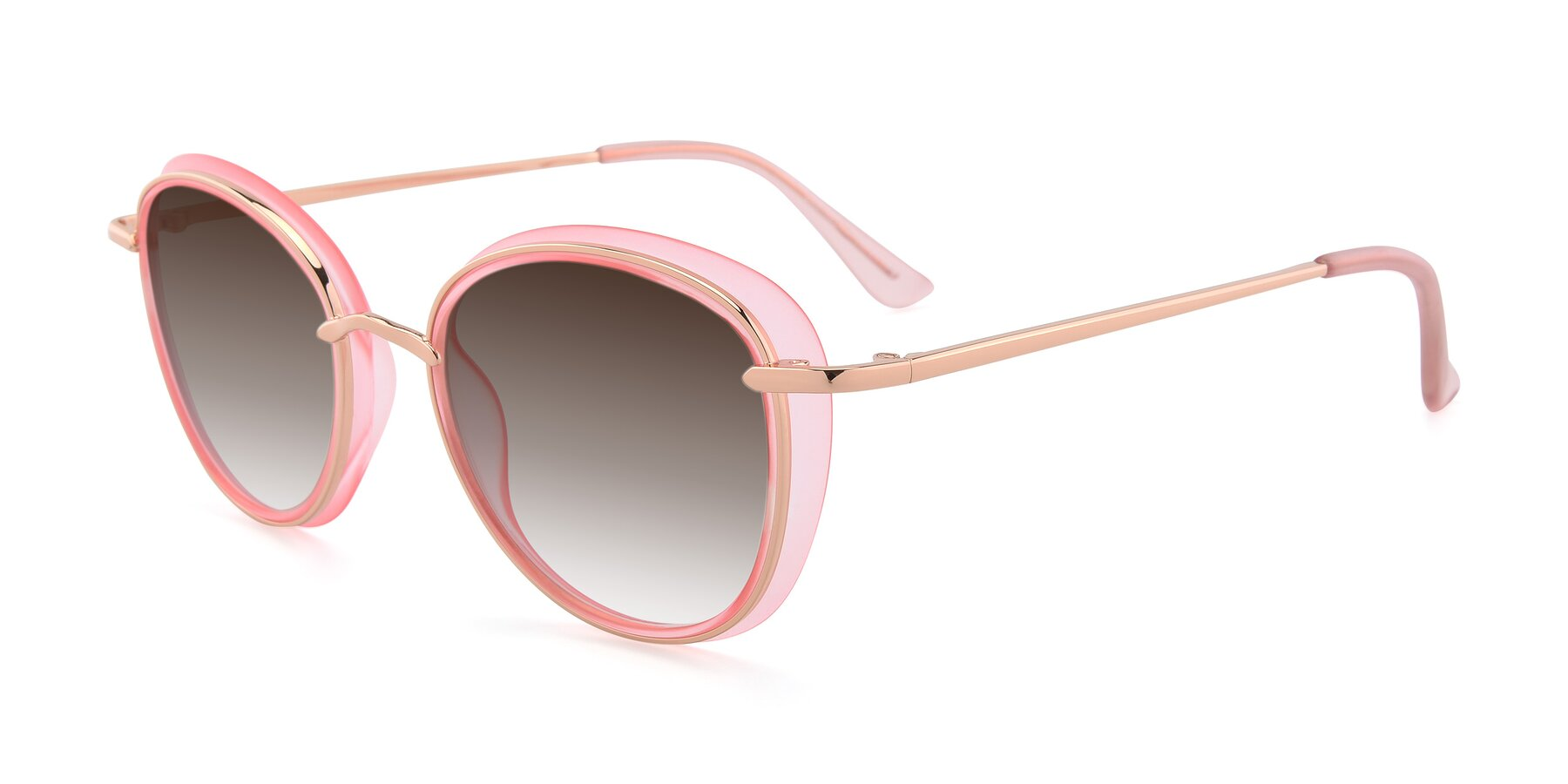 Angle of Cosmopolitan in Pink-Gold with Brown Gradient Lenses