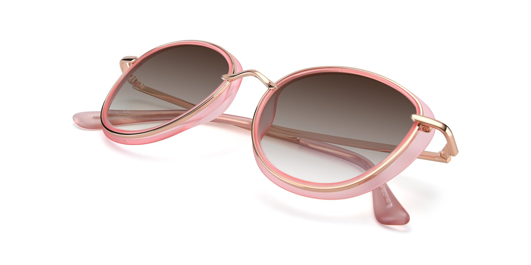 View of Cosmopolitan in Pink-Gold with Brown Gradient Lenses
