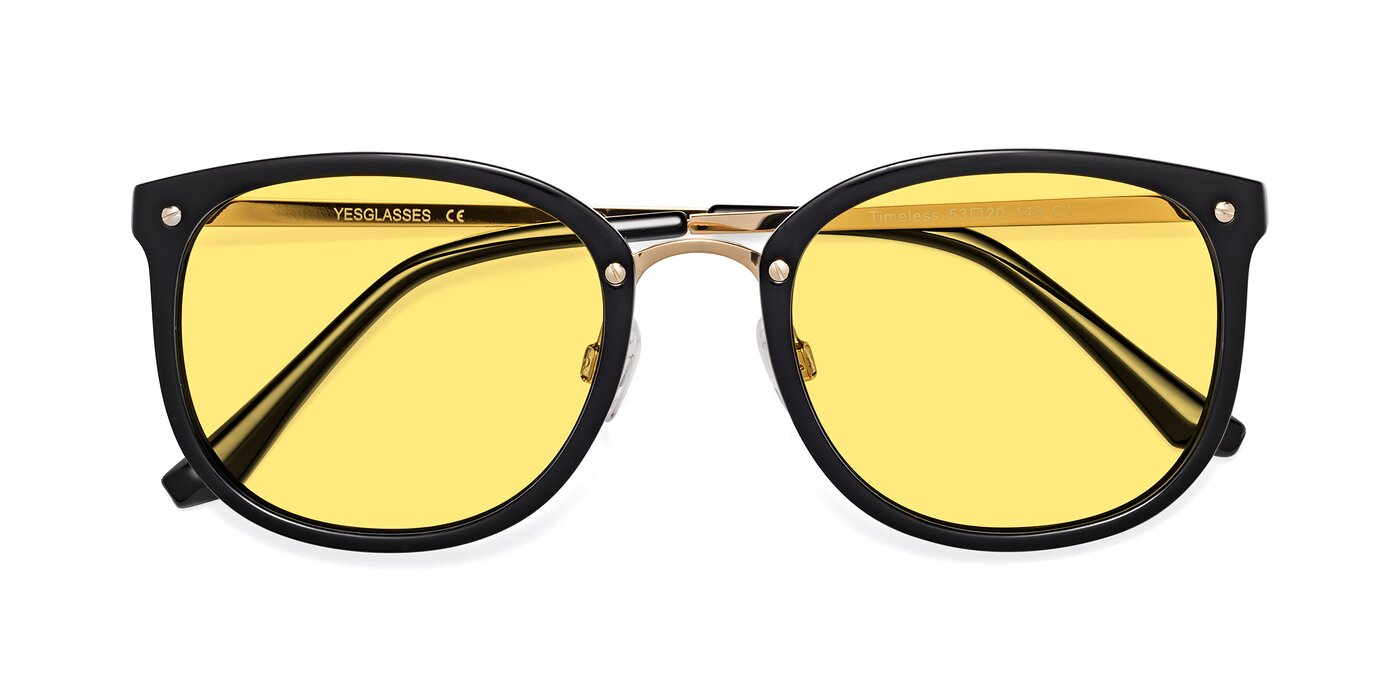 Timeless - Black / Gold Tinted Sunglasses