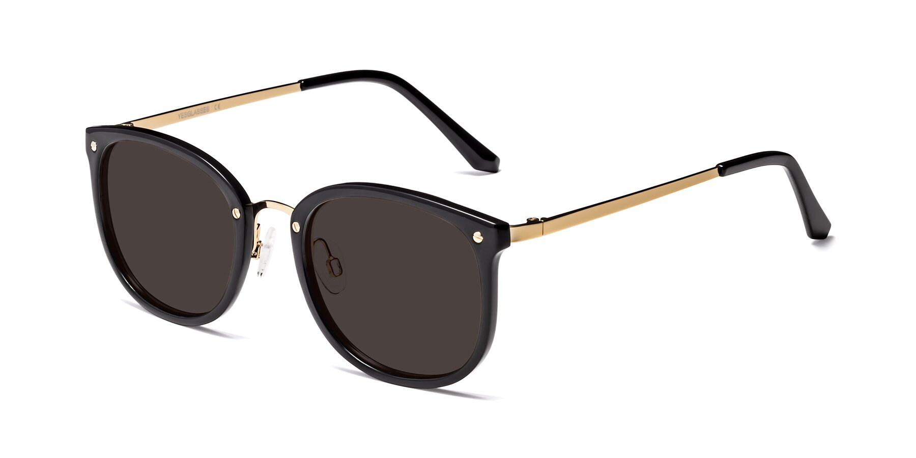 Angle of Timeless in Black-Gold with Gray Tinted Lenses