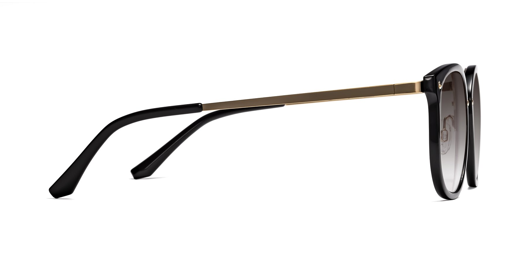 Side of Timeless in Black-Gold with Gray Gradient Lenses