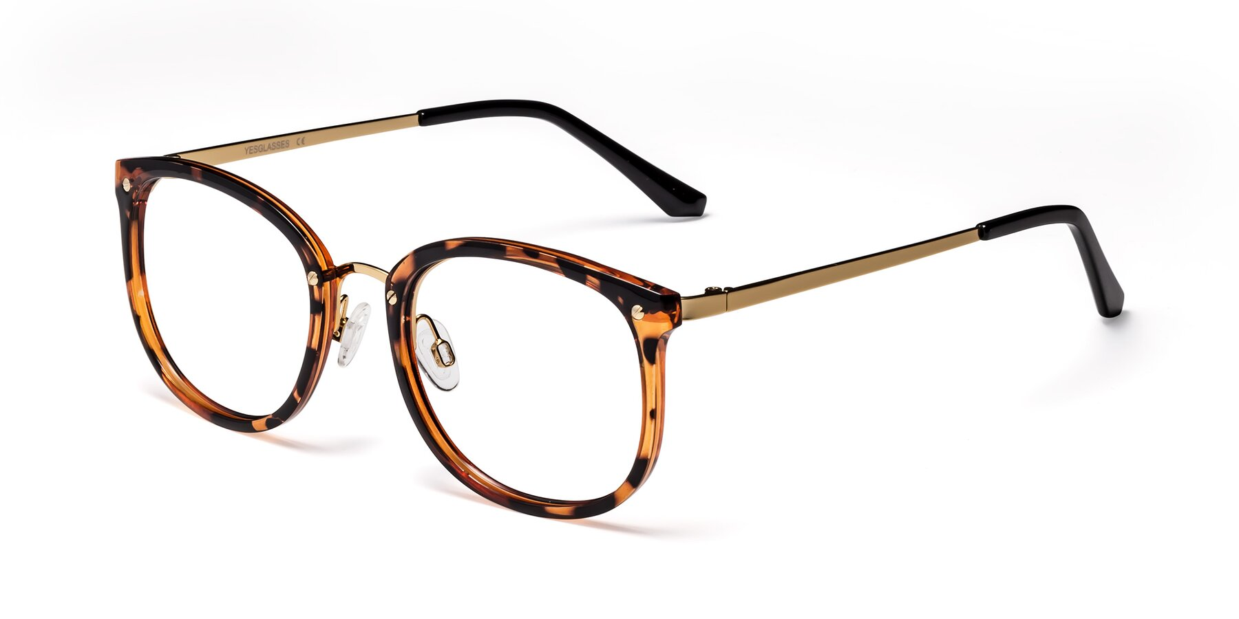 Angle of Timeless in Tortoise-Golden with Clear Blue Light Blocking Lenses