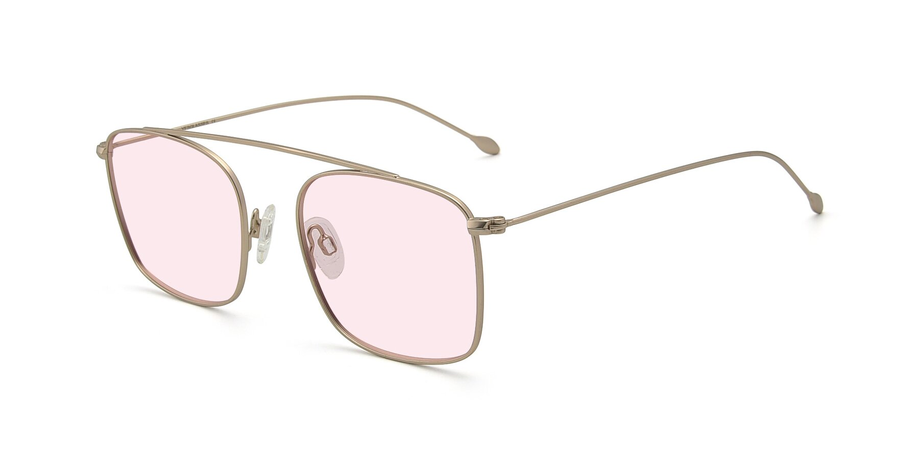Angle of The Librarian in Copper with Light Pink Tinted Lenses