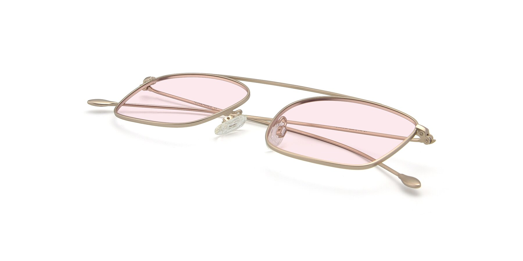 View of The Librarian in Copper with Light Pink Tinted Lenses