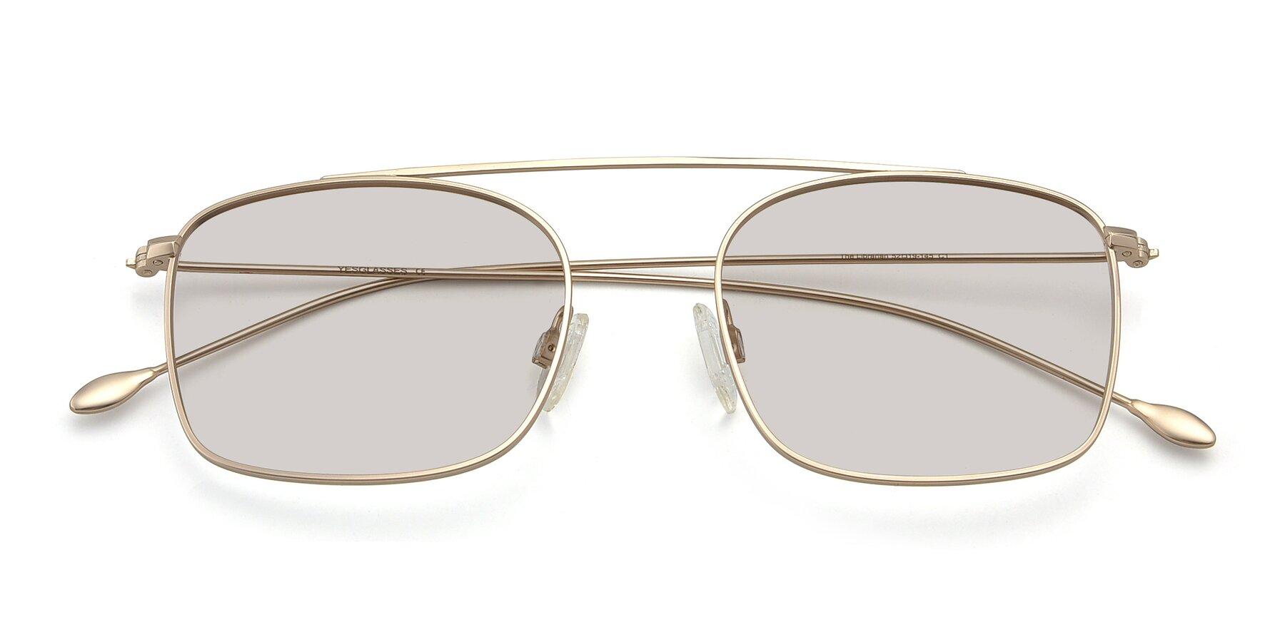 Folded Front of The Librarian in Copper with Light Brown Tinted Lenses