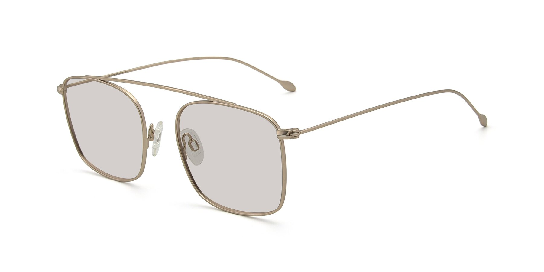 Angle of The Librarian in Copper with Light Brown Tinted Lenses