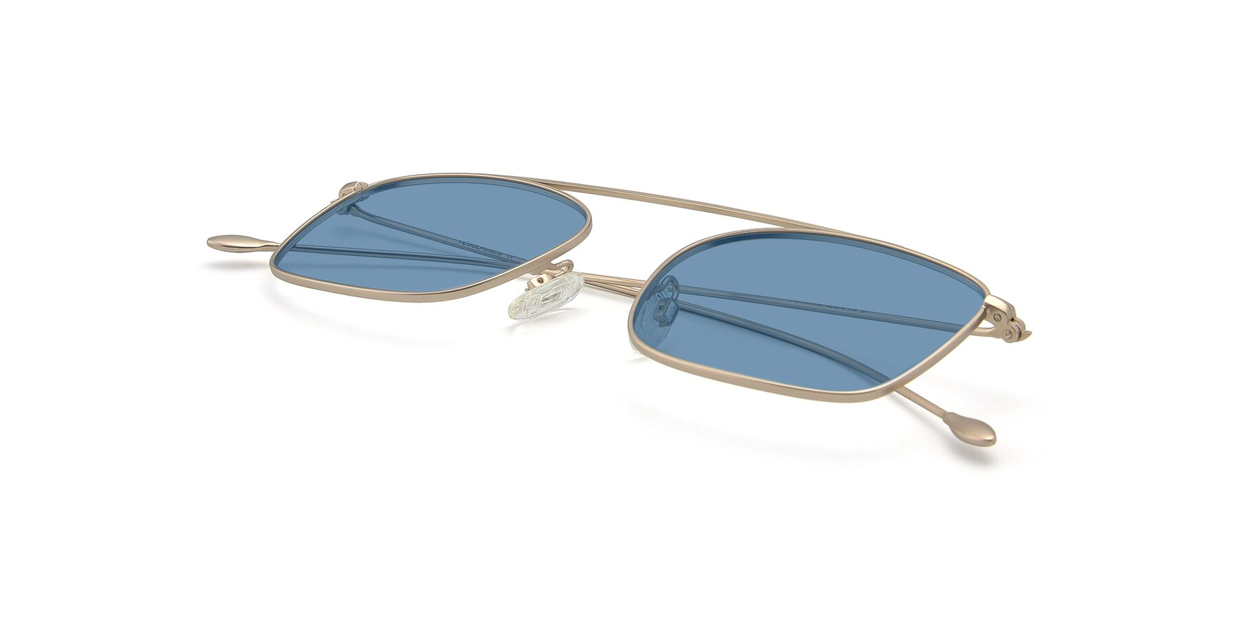 View of The Librarian in Copper with Medium Blue Tinted Lenses