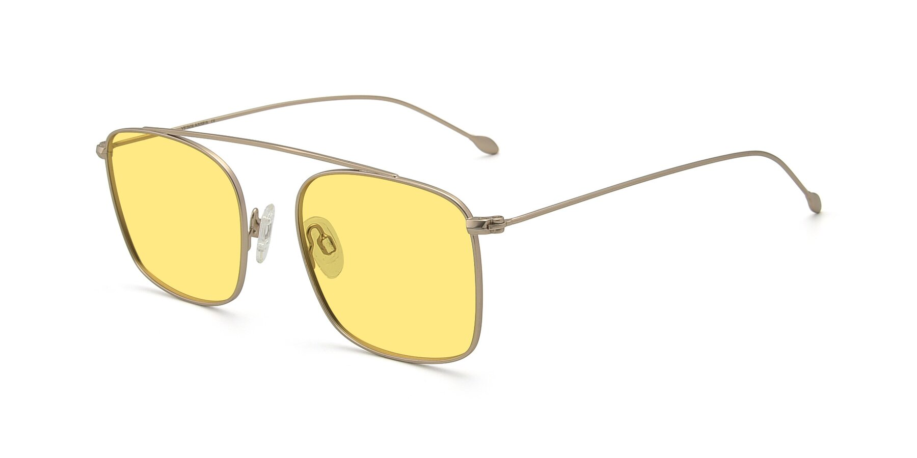 Angle of The Librarian in Copper with Medium Yellow Tinted Lenses