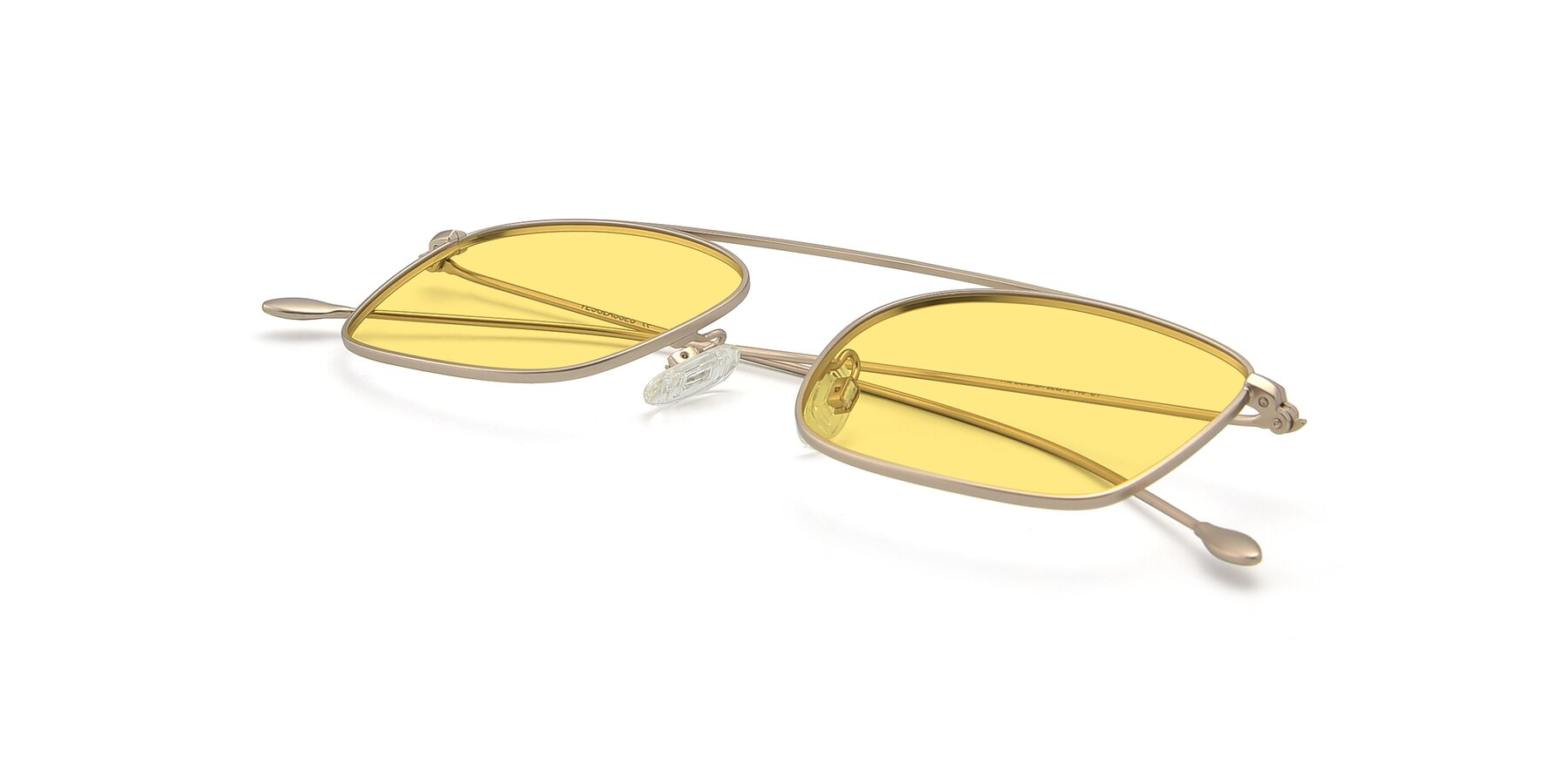 View of The Librarian in Copper with Medium Yellow Tinted Lenses