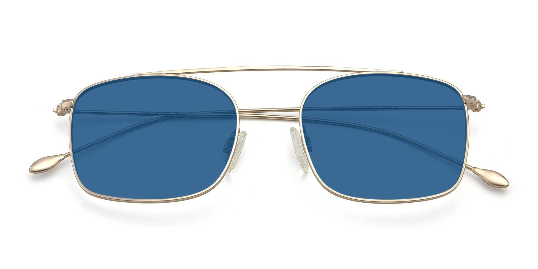 Folded Front of The Librarian in Copper with Blue Tinted Lenses