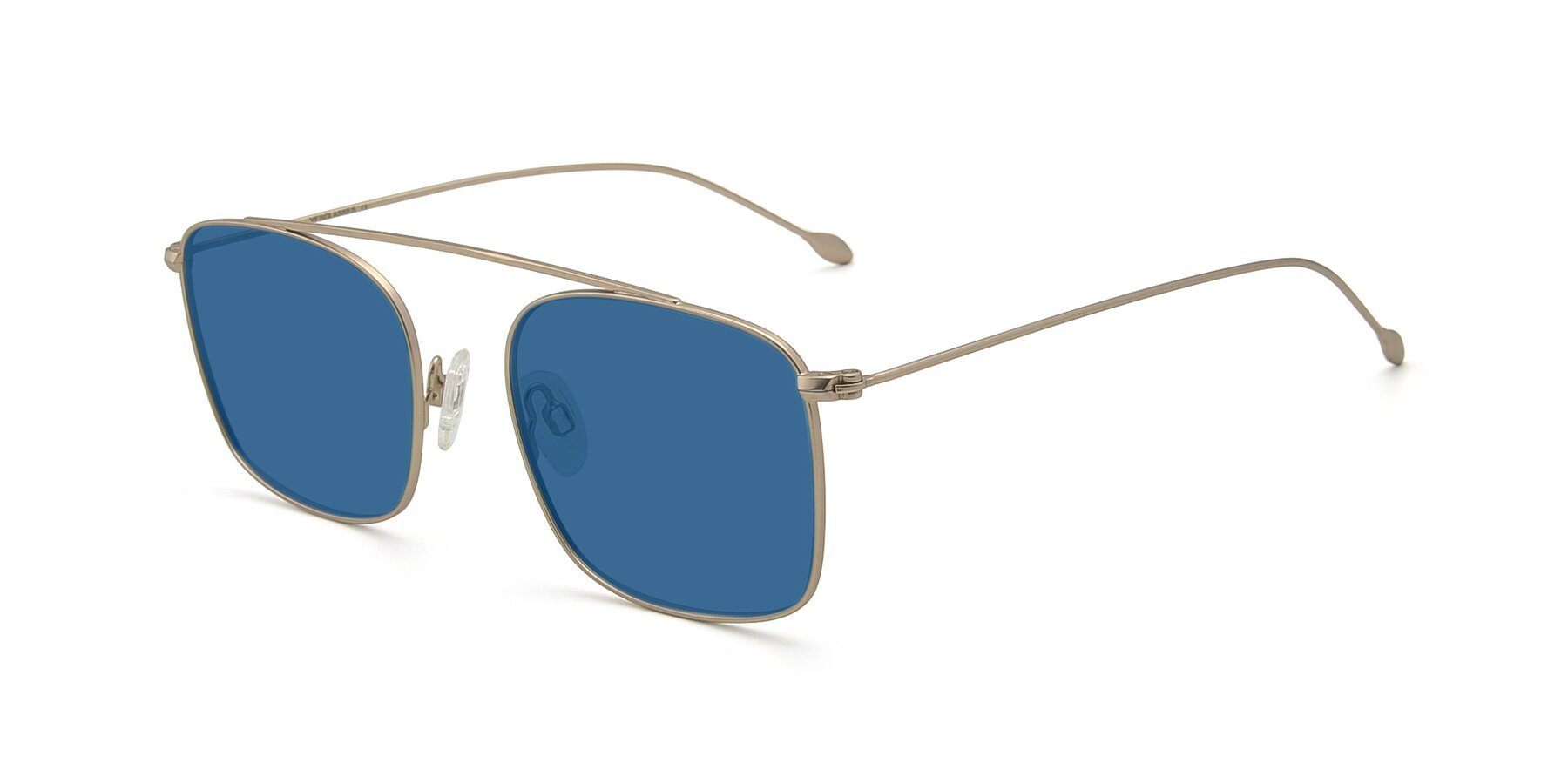 Angle of The Librarian in Copper with Blue Tinted Lenses