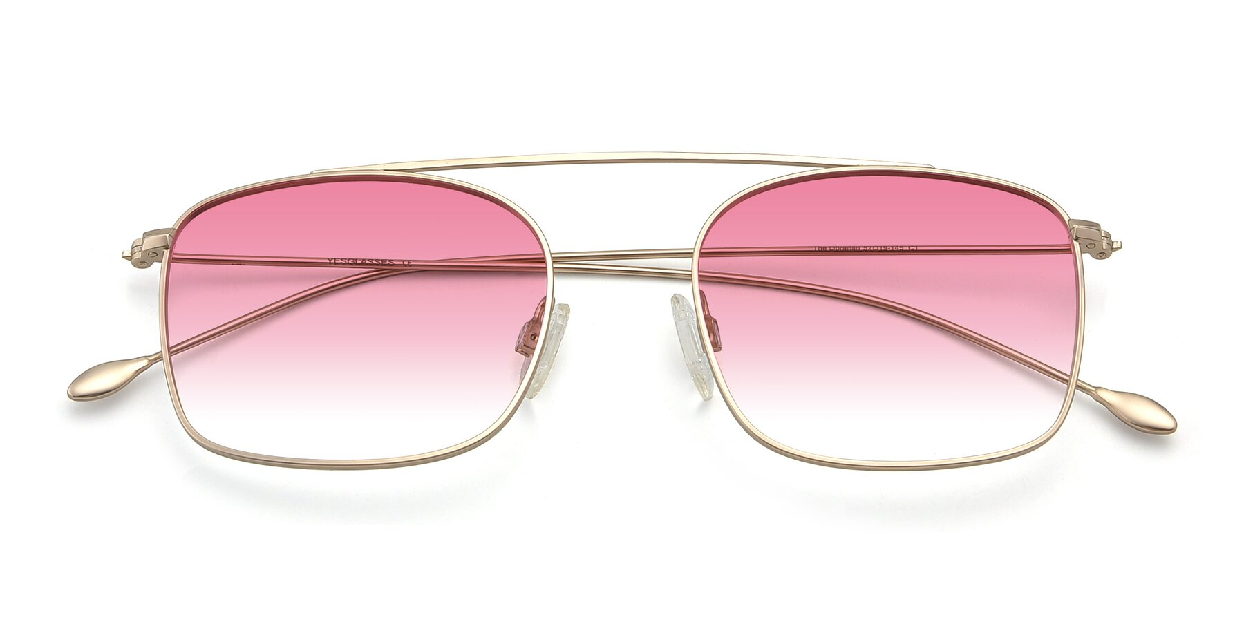 Folded Front of The Librarian in Copper with Pink Gradient Lenses