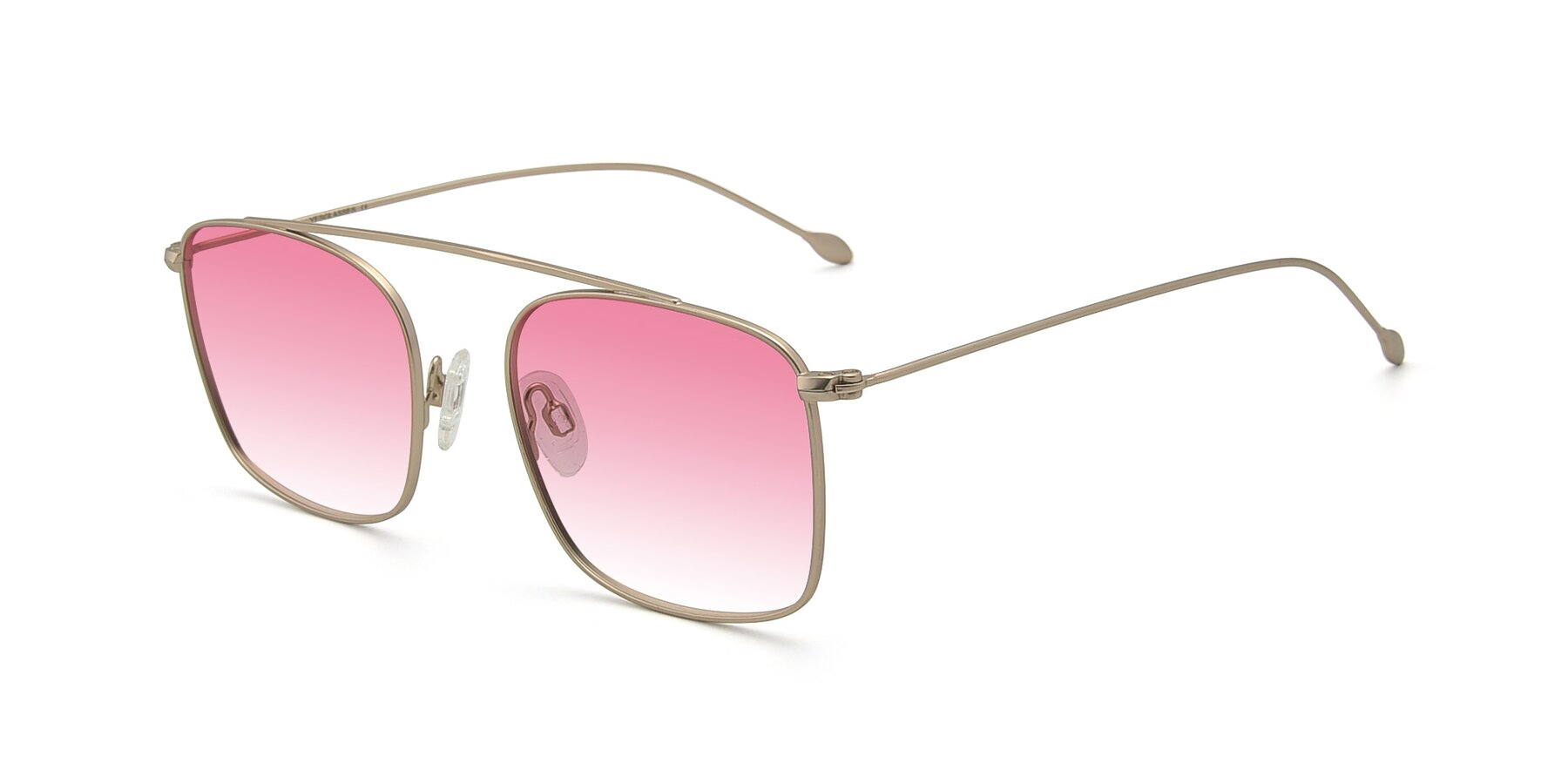 Angle of The Librarian in Copper with Pink Gradient Lenses