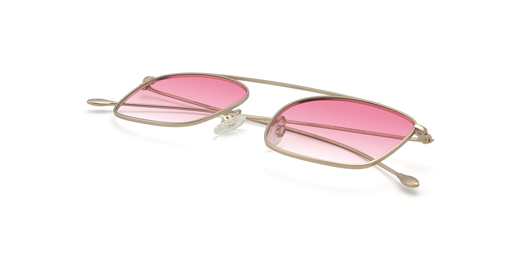 View of The Librarian in Copper with Pink Gradient Lenses