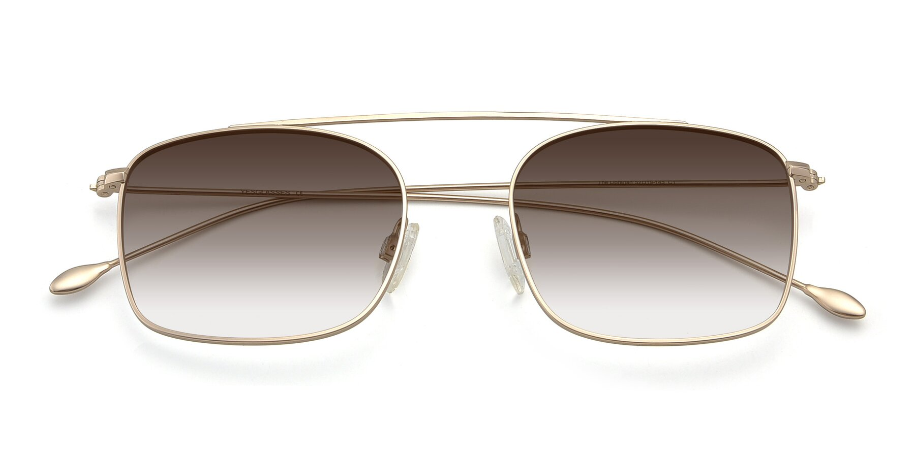 Folded Front of The Librarian in Copper with Brown Gradient Lenses