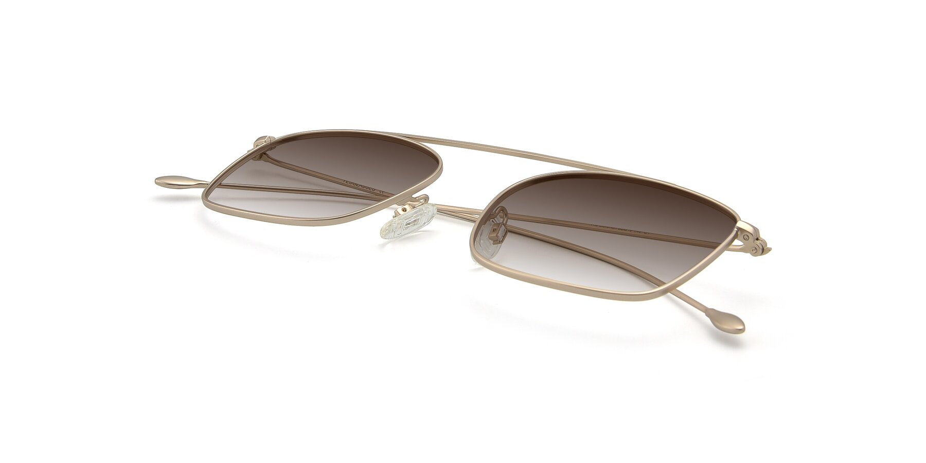 View of The Librarian in Copper with Brown Gradient Lenses