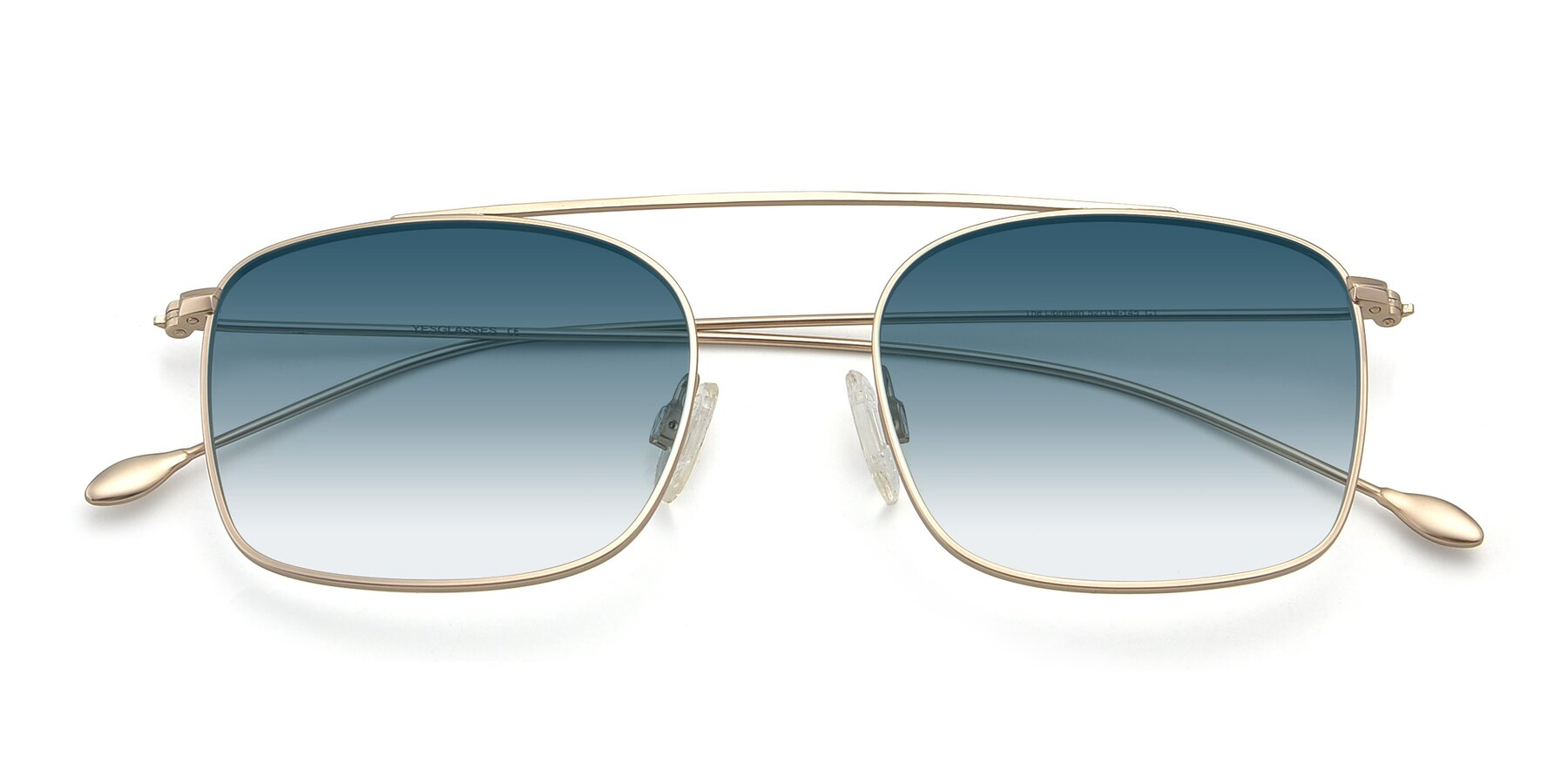 Folded Front of The Librarian in Copper with Blue Gradient Lenses