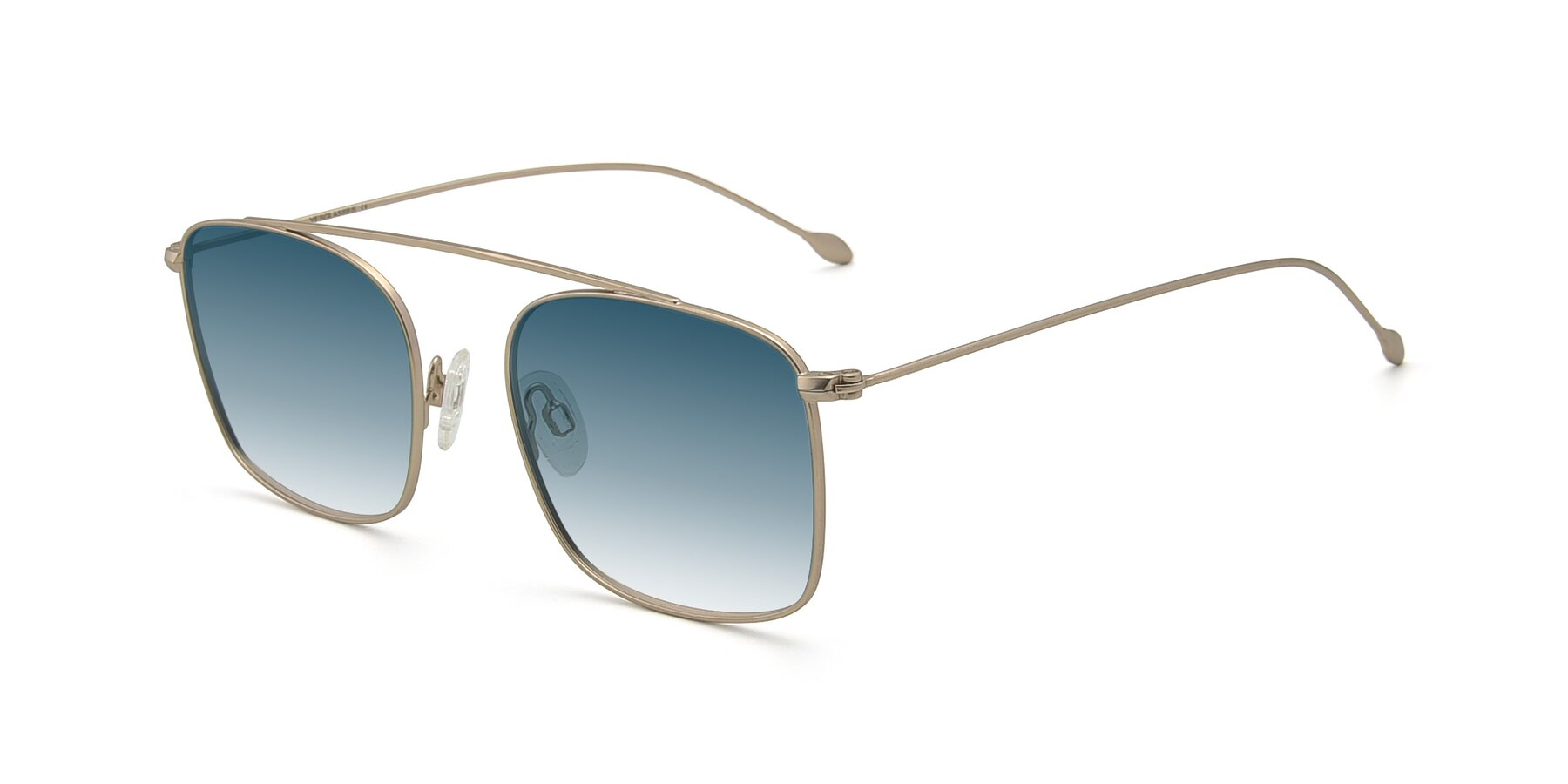 Angle of The Librarian in Copper with Blue Gradient Lenses