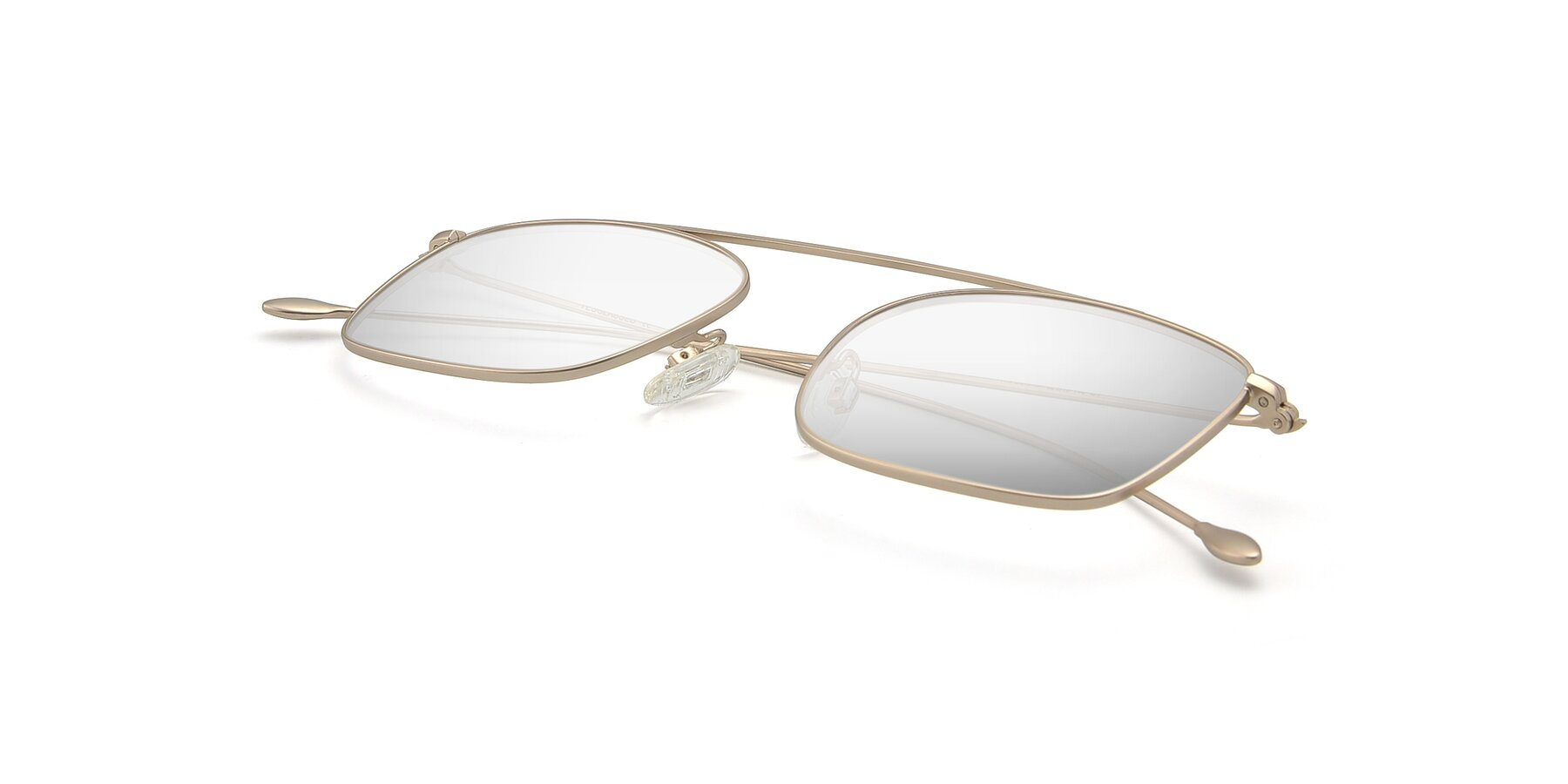 View of The Librarian in Copper with Silver Mirrored Lenses