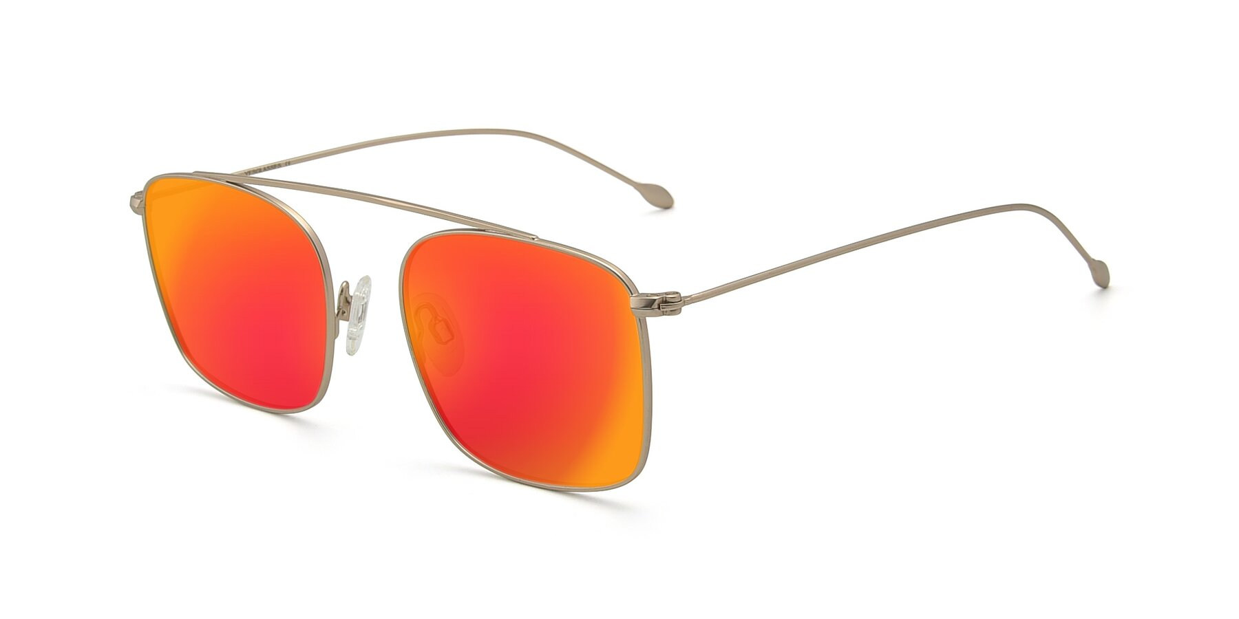 Angle of The Librarian in Copper with Red Gold Mirrored Lenses