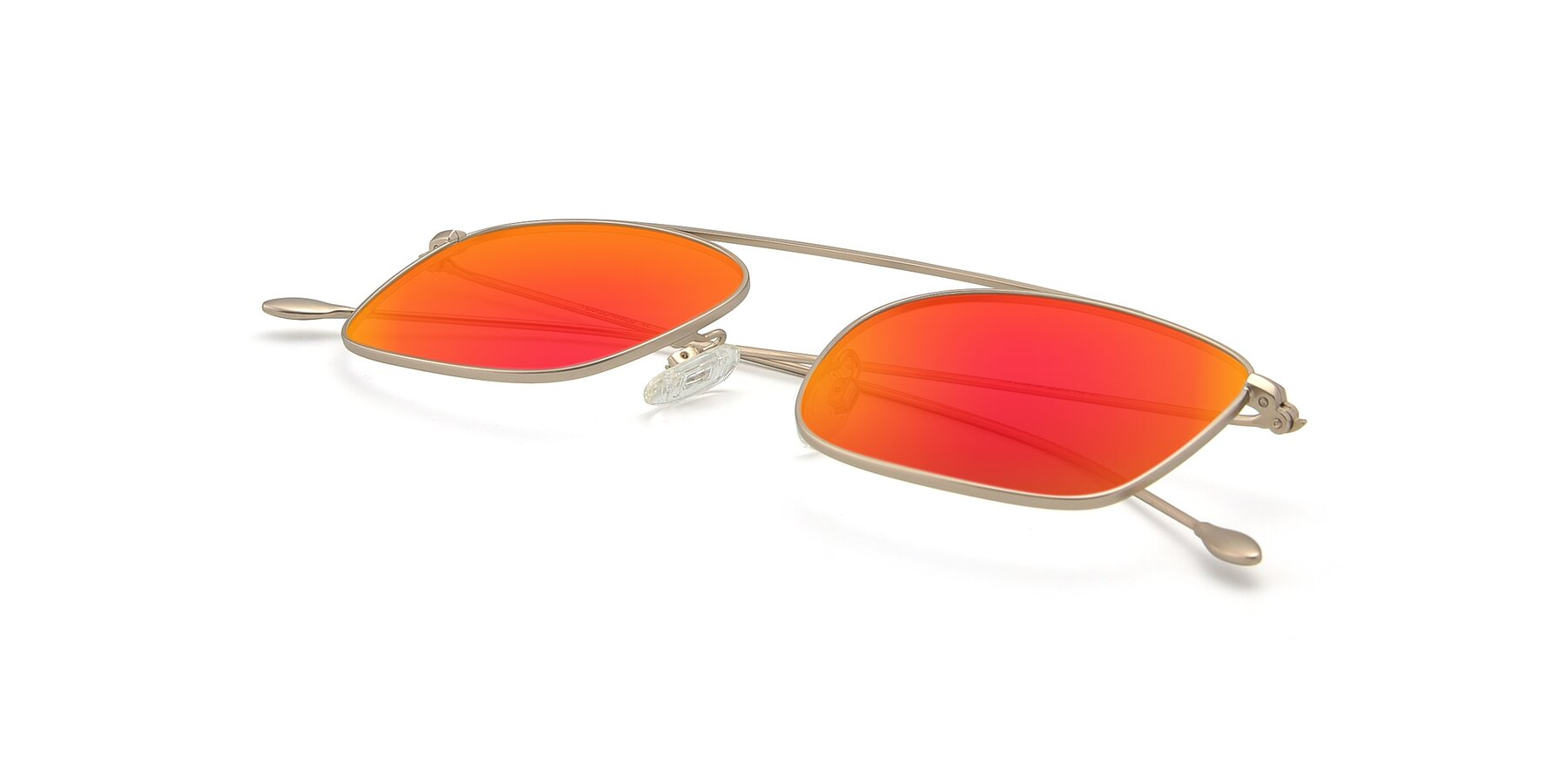 View of The Librarian in Copper with Red Gold Mirrored Lenses