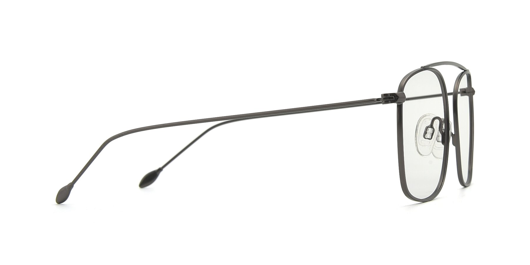 Side of The Librarian in Gunmetal with Clear Blue Light Blocking Lenses