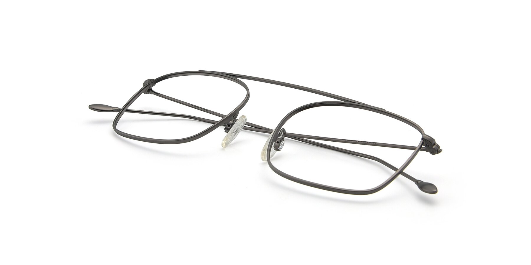 View of The Librarian in Gunmetal with Clear Blue Light Blocking Lenses