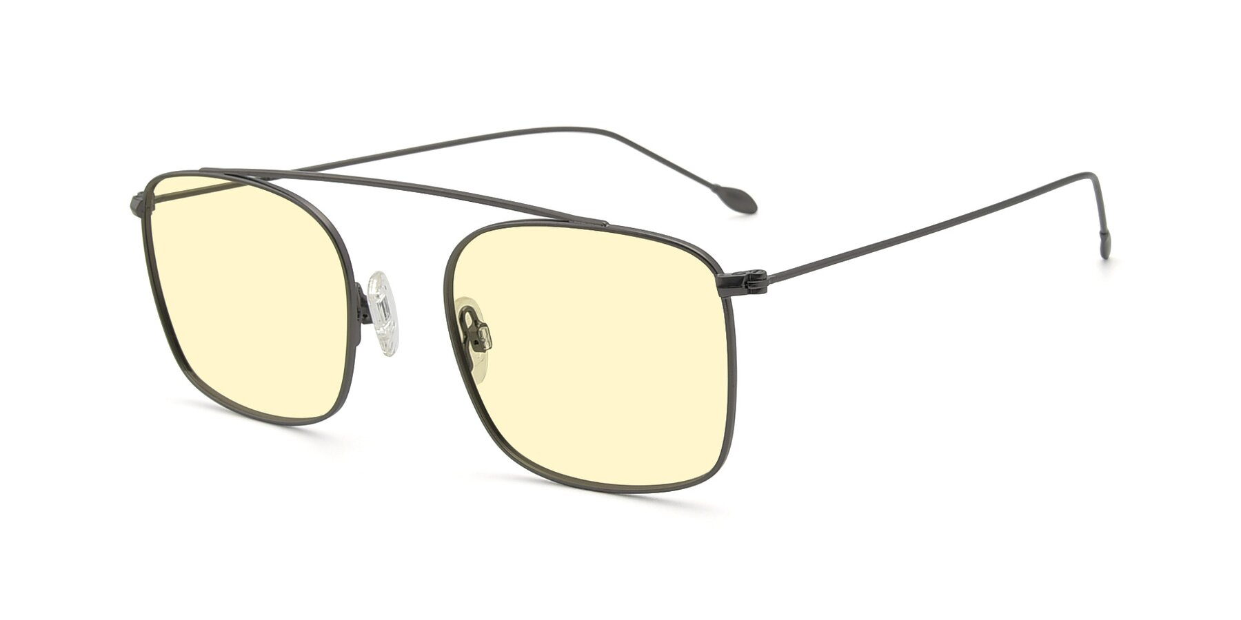 Angle of The Librarian in Gunmetal with Light Yellow Tinted Lenses