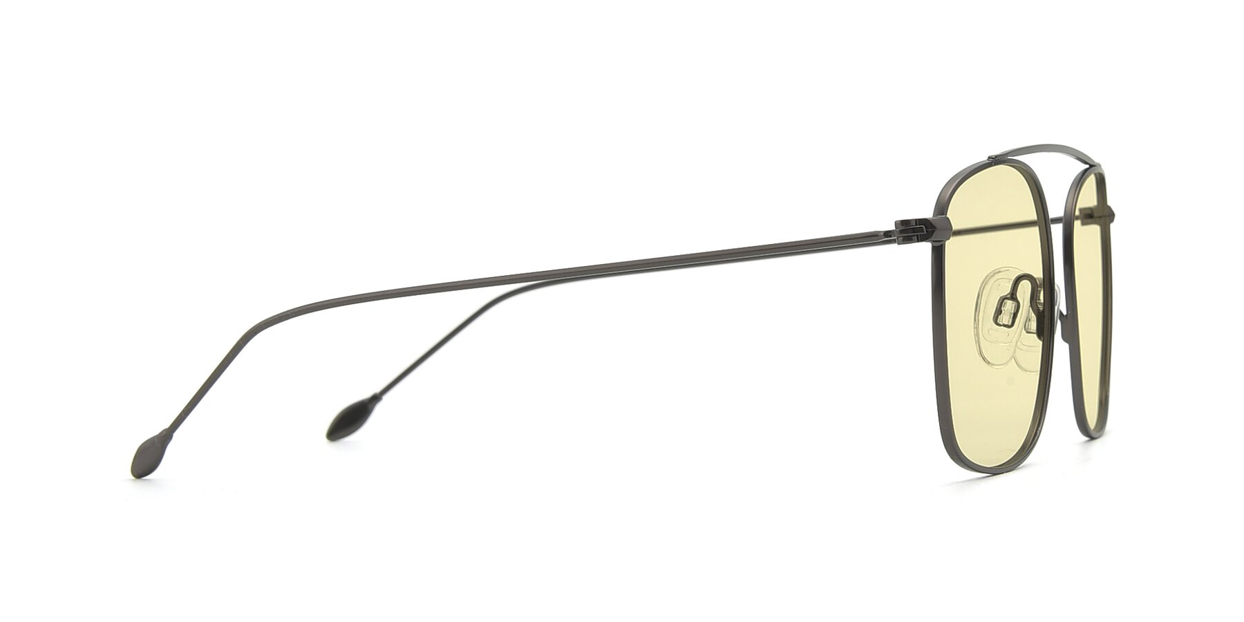 Side of The Librarian in Gunmetal with Light Yellow Tinted Lenses