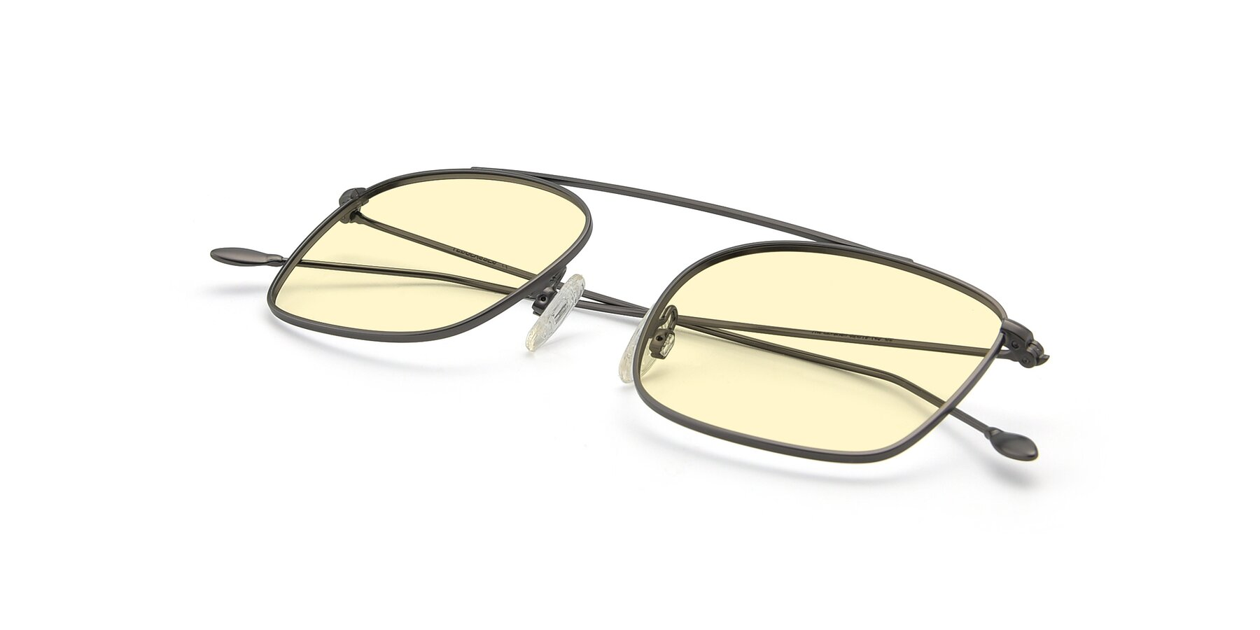 View of The Librarian in Gunmetal with Light Yellow Tinted Lenses