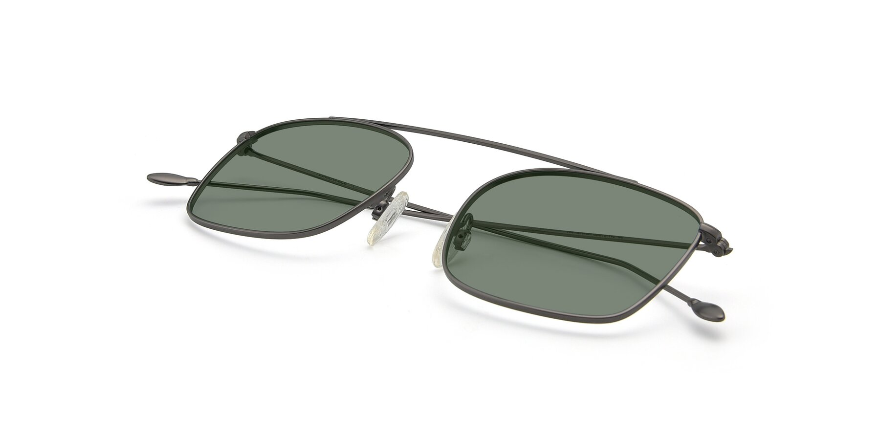 View of The Librarian in Gunmetal with Medium Green Tinted Lenses