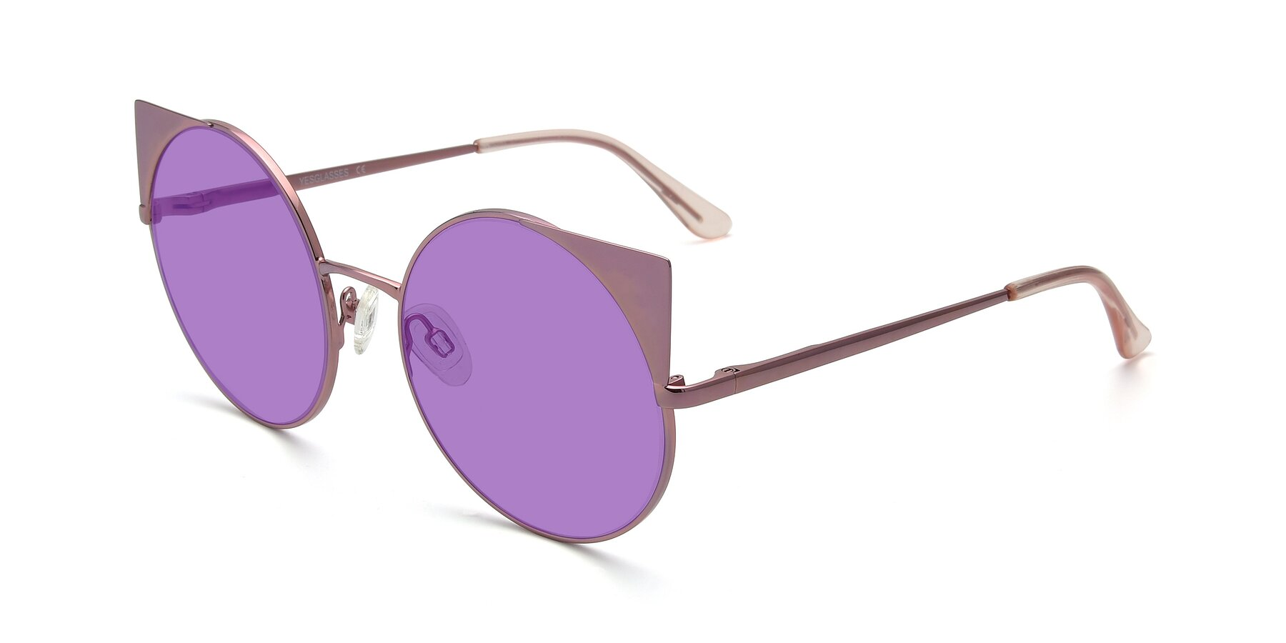 Angle of SSR1955 in Pink with Medium Purple Tinted Lenses