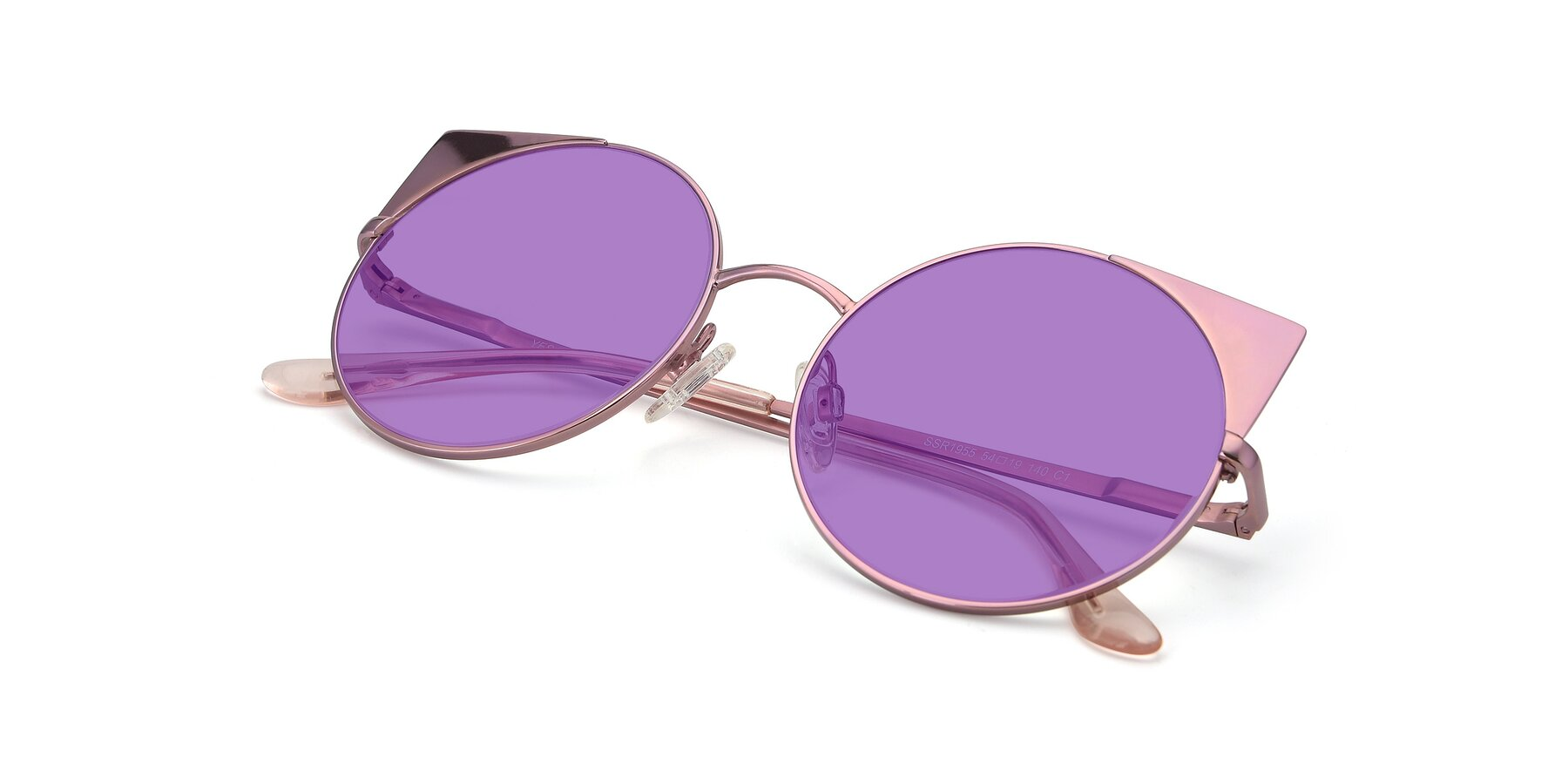 View of SSR1955 in Pink with Medium Purple Tinted Lenses