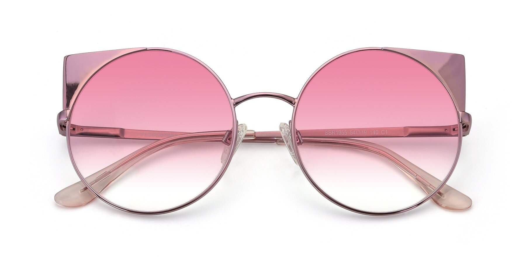 Folded Front of SSR1955 in Pink with Pink Gradient Lenses